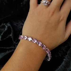 Pretty in Pink with Silver Accent Bracelet